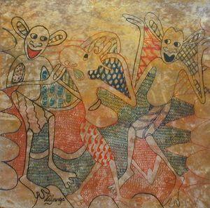George LILANGA - Peinture - Senza titolo