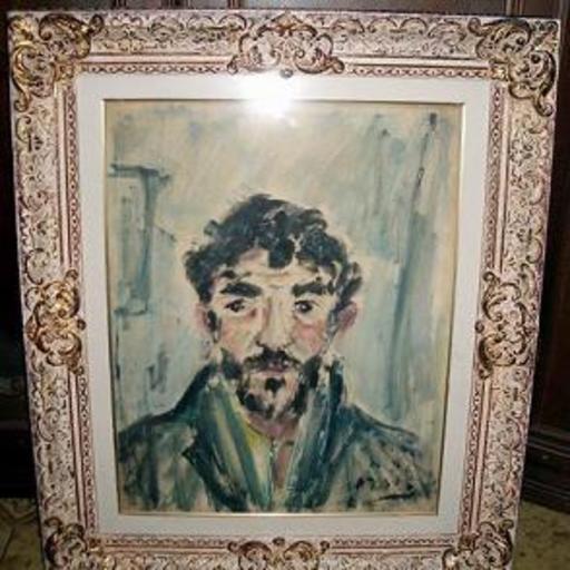 Filippo DE PISIS - Pintura - ritratto maschile