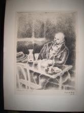 Pierre DE BELAY - Print-Multiple - VERLAINE AU CAFE