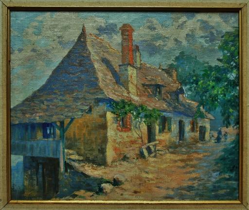 Achille BRON - Peinture - Vieille ferme vers Argentat, Corrèze