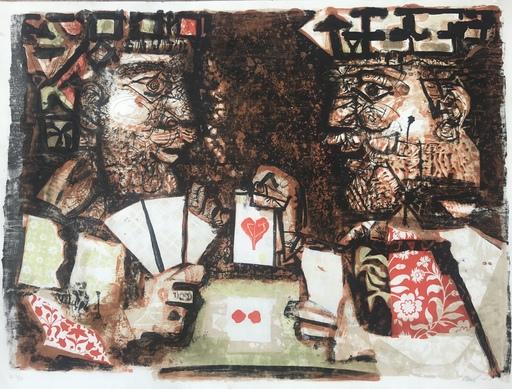 Antoni CLAVÉ - Stampa-Multiplo - Rois jouant aux cartes