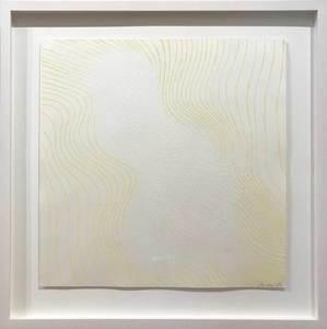 Günther UECKER - Print-Multiple - Welle gelb