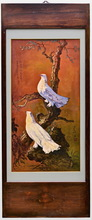 LEE Man Fong - Pintura - TWO DOVES IN THE EVENING TWILIGHT