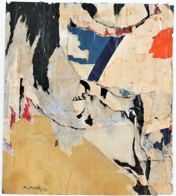 Mimmo ROTELLA - Painting - SETTE NASCOTO - 1956