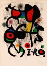 """Joan MIRO - Print-Multiple - Cartel para la exposición """"Bronzes"""""""