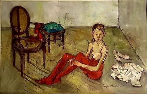 Françoise ADNET - Peinture - la petite danseuse