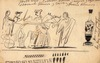 Ulpiano CHECA Y SANZ - Disegno Acquarello - Archéologie -Pompéi-Pompeya -Rome