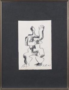 Ossip ZADKINE - Drawing-Watercolor