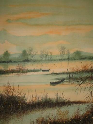 Pierre MAS - Grabado - L'étang en Automne,1987..