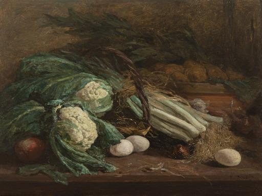 Eugène BOUDIN - Painting - Nature morte aux légumes