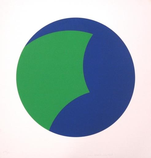 Leon Polk SMITH - Grabado - Blau-Grün Mediumcolor