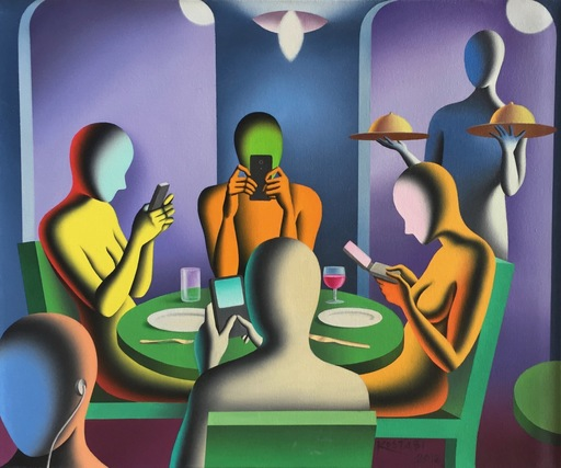 Mark KOSTABI - Pintura - The here and now