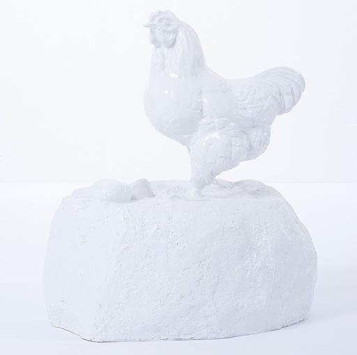 William SWEETLOVE - Sculpture-Volume - Chicken on rock