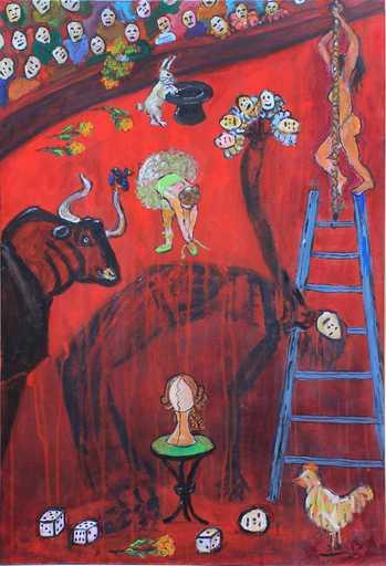 Jacotte SIBRE - Peinture - Le cirque