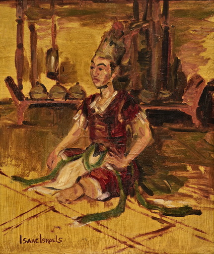 Isaac Lazarus ISRAELS - Peinture - Javanese Lord