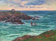 Henry MORET - Pintura - Marine Douëlan, Bretagne