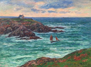Henry MORET - Gemälde - Marine Douëlan, Bretagne