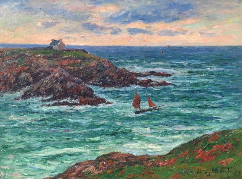 Henry MORET - Peinture - Marine Douëlan, Bretagne