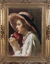 Alessio ISSUPOFF (1889-1957) - La ragazza con il cappello di paglia
