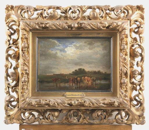 Louis REINHARDT - Peinture - Kühe im Wasser