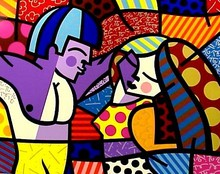 Romero BRITTO - Grabado - First Love