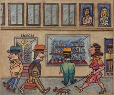 Antonio SEGUI - Peinture - Salir de Vidrieras