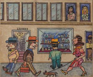 Antonio SEGUI - Painting - Salir de Vidrieras