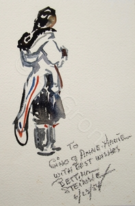 Bettina STEINKE - Dessin-Aquarelle - Woman with child on back