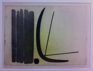 "Hans HARTUNG - Estampe-Multiple - ""8"""