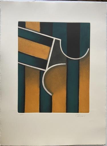 Perry OLIVER - Druckgrafik-Multiple - Perry Oliver - Cintas y sombras cruzadas