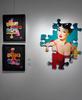 KEYMI - Painting - Francesca - Série Pin up Puzzle