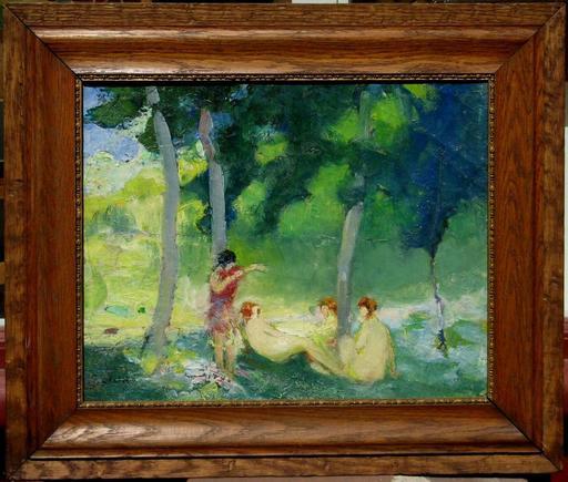 Jean DANIEL - Pintura - BAIGNEUSES A LA RIVIERE
