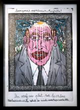 Robert COMBAS - Peinture - Bonjours Monsieur Magritte