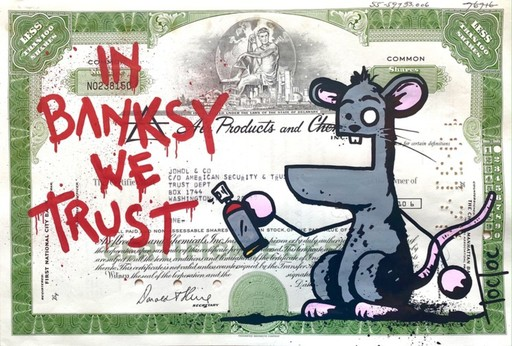 TOCTOC - Painting - In Banksy We Trust