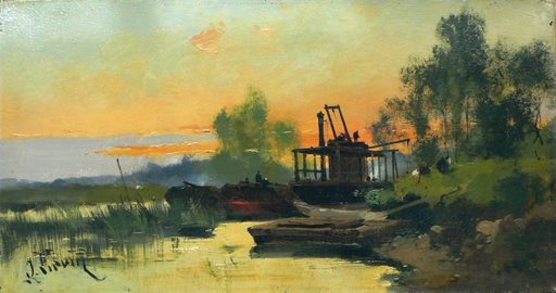 Eugène GALIEN-LALOUE - Gemälde - c.1874 Coucher de soleil