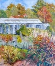 Anne DE LARMINAT - Painting - La serre de l'arboretum de Chatenay