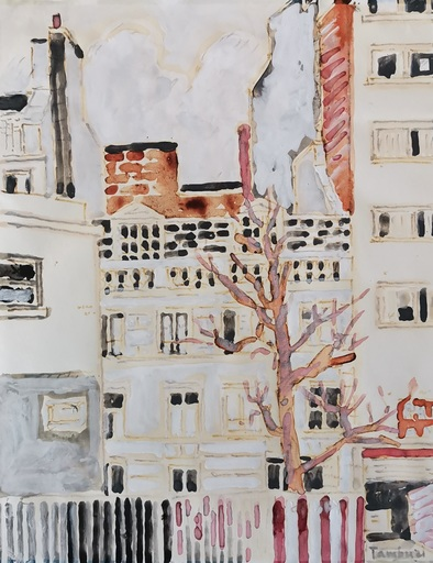 Orfeo TAMBURI - Dessin-Aquarelle - Rue Joubert