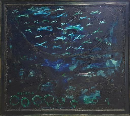 Mario SCHIFANO - Peinture - Per amor del Cielo (e Terra)