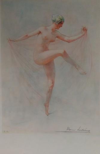 Louis LESSIEUX - Grabado - Danseuse au voile