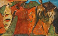 Nikolai MUKHIN - Painting - Banishment from Paradise