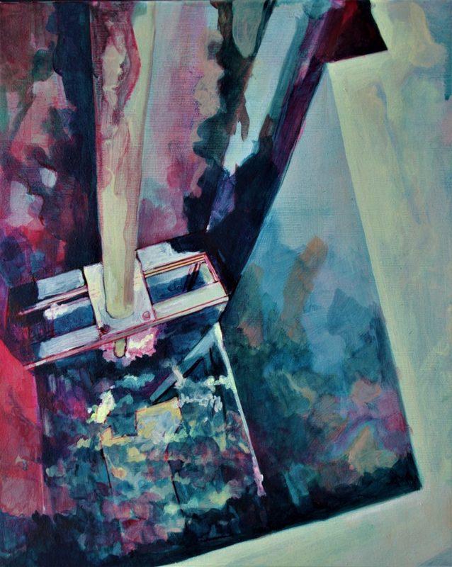 Aude MOUILLOT - Painting - « Focus etang 8 »