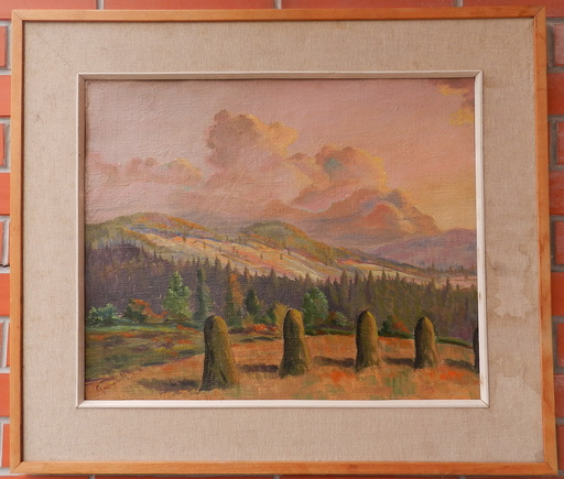 Egmund GWERK - Pittura - Landscape from Central Slovakia