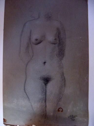 Georges ROHNER - Dessin-Aquarelle - NU