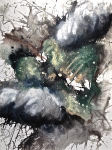 Baruj SALINAS - Dibujo Acuarela - Hoja al viento