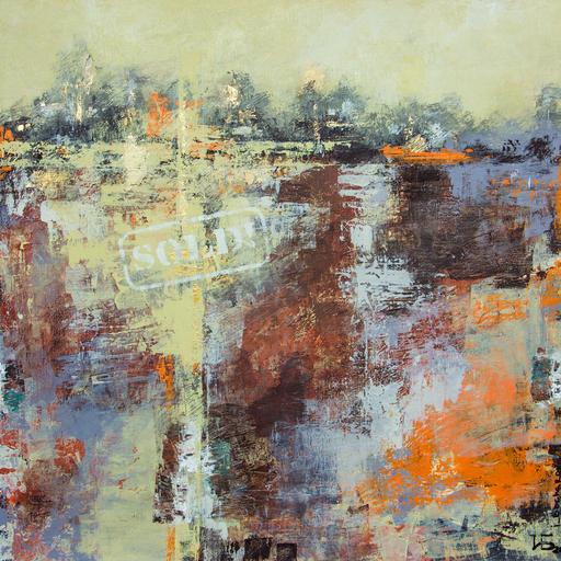 """Irina BOCHAROVA - Painting - abstract cityscape """"City sold"""""""