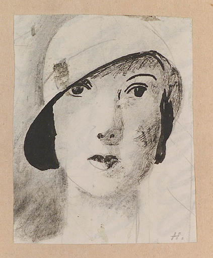 Alfred HAGEL - 水彩作品 - Alfred Hagel (1885-1945), Art Deco Lady, 1920s