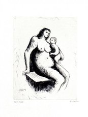 Henry MOORE - Print-Multiple - Mother And Child V