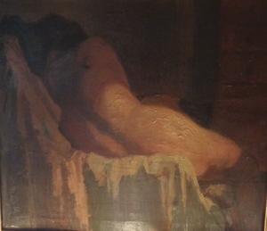 Jules LEENE VAN DE - Peinture - naakt