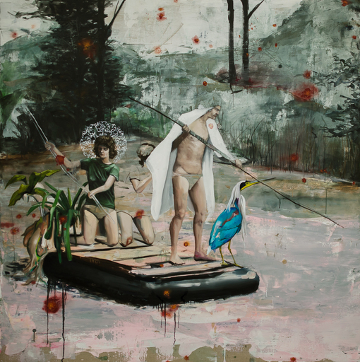 Ludovic THIRIEZ - Peinture - Raft and spaceship