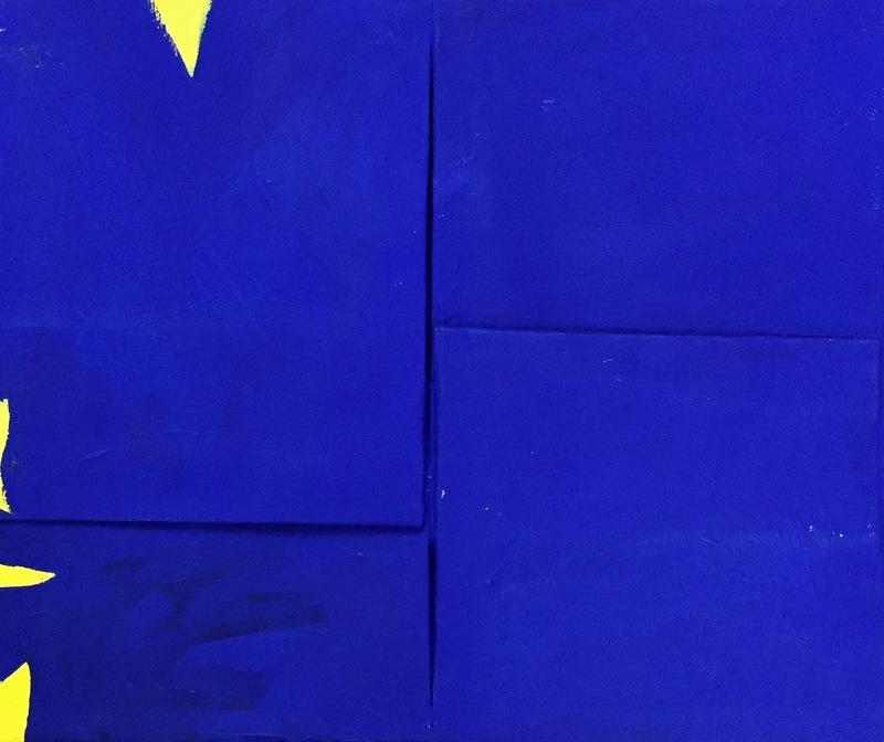 Cesare BERLINGERI - Pintura - Il giallo che entra nel blu